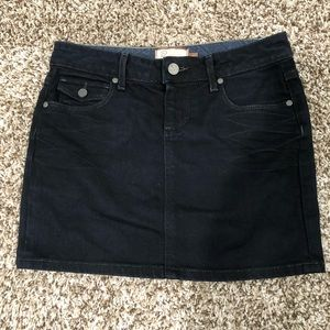 PAIGE BLACK DENIM MEANS MINI SKIRT SIZE 25